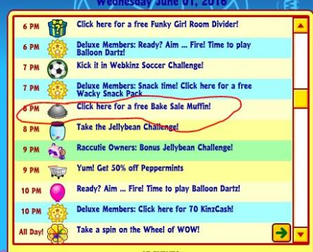 Bake sale crazy 4 webkinz bake sale in todays activities forumfinder Choice Image